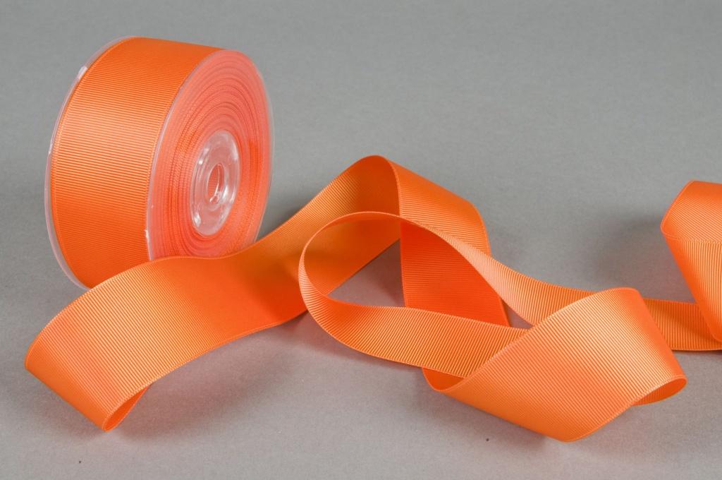 A263UN Grosgrain ribbon orange 38mmx20m