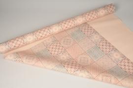 A266BD Rouleau de papier mat perle rose poudre 80cm x 40m