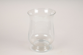 A266DQ Glass candle jar D24cm H34cm