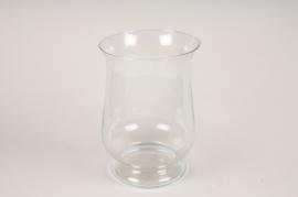A266DQ Glass candle jar D24cm H34cm