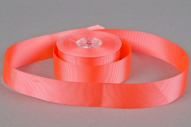 A267UN Coral grosgrain ribbon 38mm x 20m