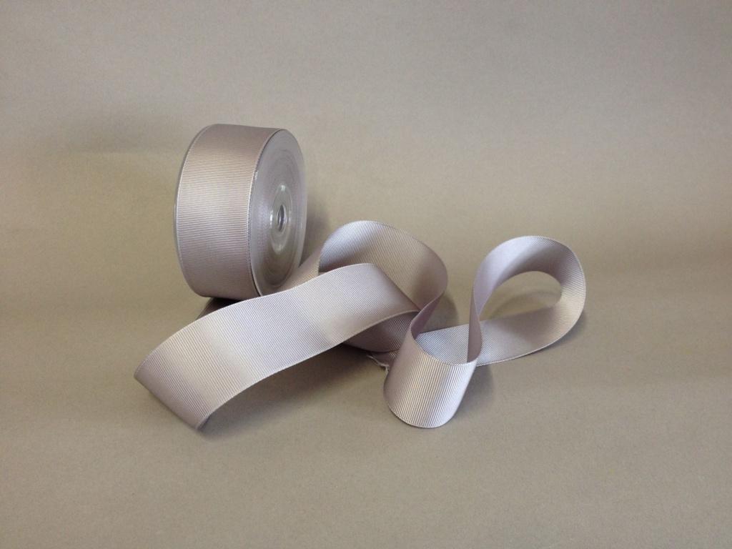 A268UN Grosgrain ribbon grey 38mmx20m