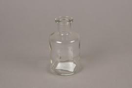 A270I0 Vase bouteille en verre D6.5cm H12cm