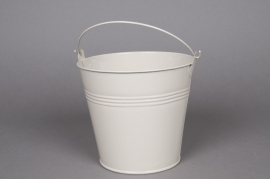 A270KM Zinc bucket ivory D16cm  H14cm