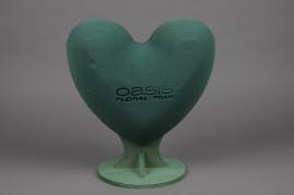 A270QV Heart floral foam D26cm