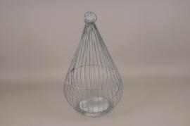 A270U7 Grey metal cage D24cm H45cm