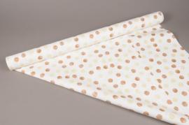 A271BD Rouleau de papier mat perle pois 80cm x 40m