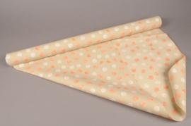 A272BD Rouleau de papier mat perle pois 80cm x 40m
