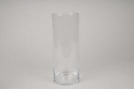 A273I0 Vase verre cylindre D12cm H30cm