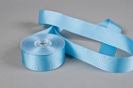 A273UN Ruban gros grain bleu turquoise 38mm x 20m