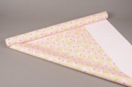 A275BD Rouleau de papier mat perle orchidée 80cm x 40m