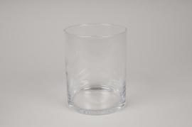 A275I0 Vase verre cylindre D12cm H15cm