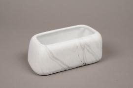 A276HX Jardinerie en céramique marbre 19x11cm H8cm