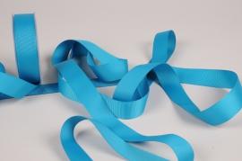 A276UN Ruban gros grain bleu turquoise 25mm x 20m
