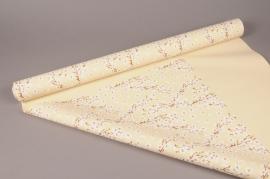 A277BD Cherry flower pearl polypropylene roll 80cm x 40m