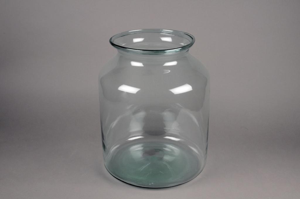 A277DQ Vase en verre D32cm H42cm