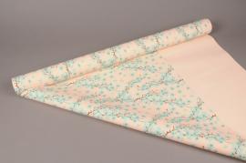 A278BD Cherry flower pearl polypropylene roll 80cm x 40m