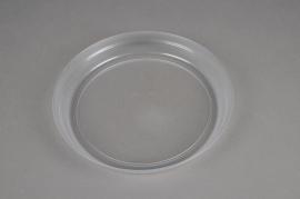 A278DQ Clear plastic saucer D21cm
