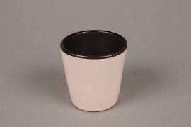 A279QS Cache-pot en céramique rose pâle D7cm H7cm