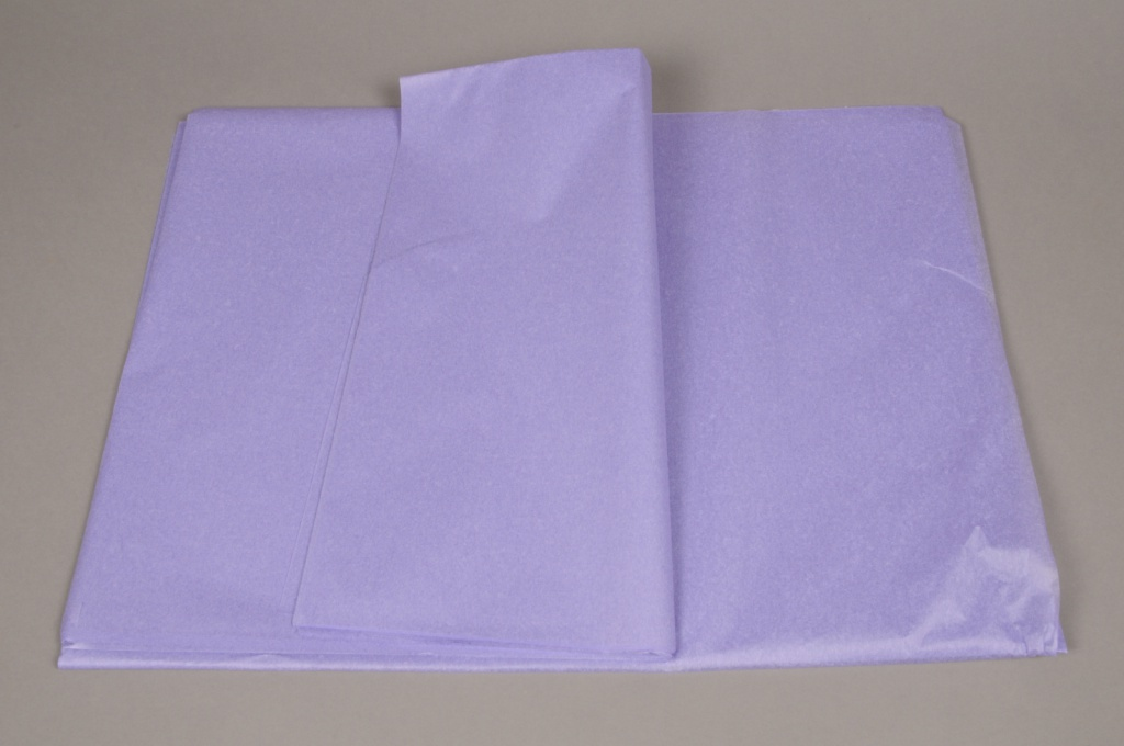 A279QX Paquet de 480 feuilles papier de soie lilas 50x75cm