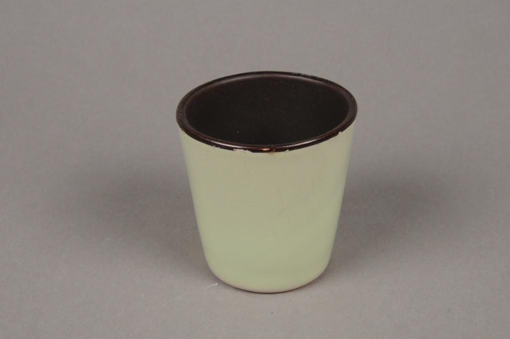 A280QS Light green ceramic planter D7cm H7cm