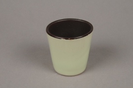 A280QS Light green ceramic planter D7cm H7cm