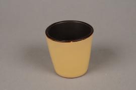 A281QS Cache-pot en céramique jaune D7cm H7cm