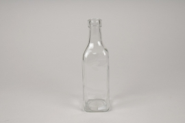 A282DQ Glass bottle vase 6cm x 6cm H21cm