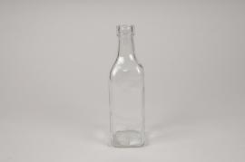 A282DQ Vase bouteille en verre 6cm x 6cm H21cm