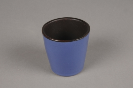 A282QS Blue ceramic planter D7cm H7cm