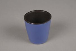 A282QS Cache-pot en céramique bleu D7cm H7cm
