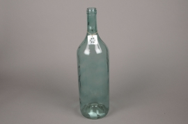 A282U7 Glass bottle vase blue D14cm H54cm