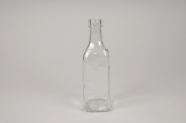 A284DQ Glass bottle vase 6cm x 6cm H21cm