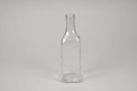 A284DQ Vase bouteille en verre 6cm x 6cm H21cm