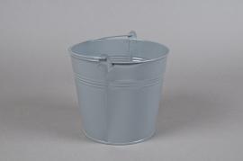A284KM Zinc bucket grey D18cm H17cm