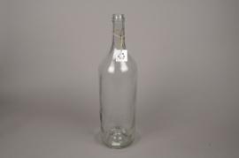 A284U7 Vase en verre bouteille D14cm H54cm