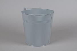 A286KM Zinc bucket grey D21cm H20cm