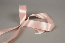 A287UN Ruban de satin rose 40mm x 25m