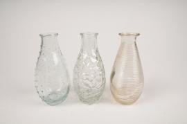 A290I0 Vase en verre obus D7cm H14cm