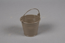 A291KM Zinc bucket brown D6cm H5,5cm