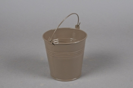 A293KM Zinc bucket brown D11cm H10cm