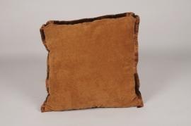 A297DQ Coussin en tissu marron 45x45cm