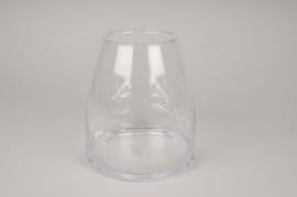 A297I0 Vase verre ressere D11.5cm H20cm
