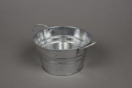 A298KM Bowl in natural bright zinc D15cm H8cm
