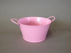 A299KM Zinc bowl pink D15cm H8cm