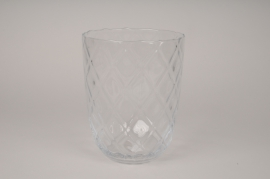 A300I0 Optical Glass vase D19cm H24.5cm