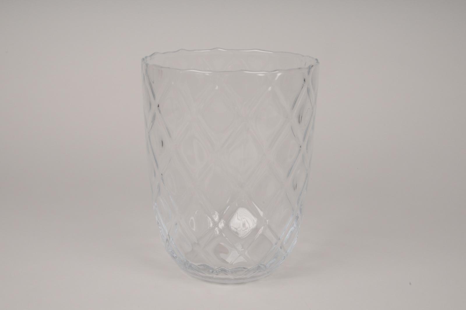 A300I0 Vase en verre optique D19cm H24.5cm
