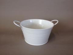 A302KM Zinc bowl white D15cm H8cm