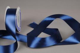 A309UN Dark blue satin ribbon 40mm x 25m