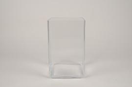 A310I0 Glass vase 15x15cm H25cm